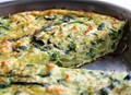 A spring vegetable frittata for mother