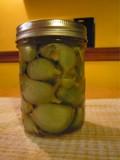 Aged Persian garlic pickles