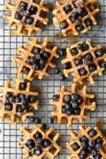 All-the-blueberries buttermilk waffles
