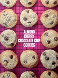 Almond cherry chocolate chip cookies