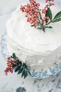 Almond crepe cake with raspberry-rose cream