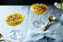 Amaranth rice pudding with rose water (Sholeh zard)