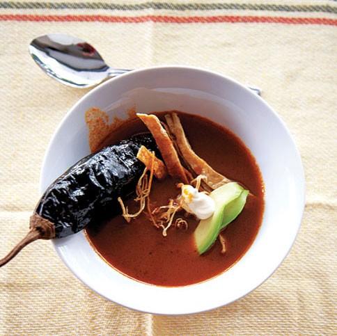 Ancho chile soup