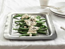 Andrea Nguyen's white tofu, sesame, and vegetable salad [Shira-ae] (Cook the Book)