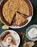 Apple-lime custard tart