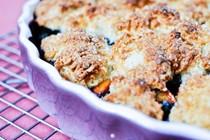Apricot blueberry cobbler