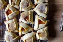 Apricot hazelnut brown butter hamantaschen