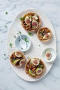 Aran Goyoaga's wild mushroom, Taleggio & fig tarts