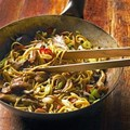 Aromatic Chinese noodles with mixed mushrooms