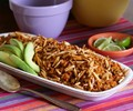 Arroz rojo de chile ancho (Ancho chile red rice)