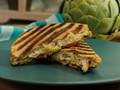 Artichoke and spinach dip chicken panini