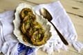 Artichoke, black lime, dill and lemon stew