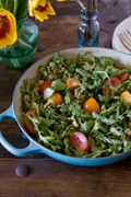 Arugula, asparagus and farro salad