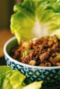 Asian ground beef lettuce wraps