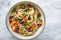 Asian zucchini noodle salad