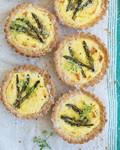 Asparagus & lemon ricotta tarts