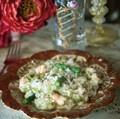 Asparagus & scampi risotto