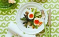Asparagus and eggs with anchovy dressing