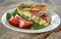Asparagus and prosciutto self-crusting quiche