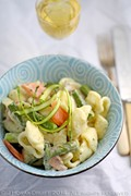 Asparagus and smoked salmon pasta
