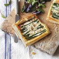 Asparagus and Taleggio tart