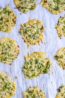Asparagus Parmesan chips
