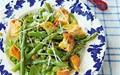 Asparagus, pea and crisped bread salad