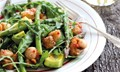 Asparagus, snow pea and scallop salad (with Citrus chilli dressing)