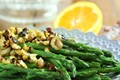 Asparagus with orange and hazelnuts