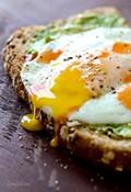 Avocado toast with sunny side egg