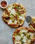 Bacon brussels leek pizza