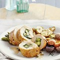 Baked chicken roulade