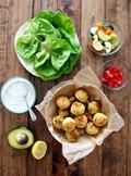 Baked falafel lettuce