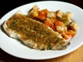 Baked fish with savory bread crumbs (Dinner Tonight)