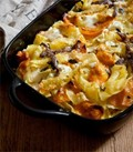 Baked lasagnette with pumpkin, Taleggio & anchovy