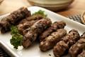 Balkan grilled minced meat (Cevapi)