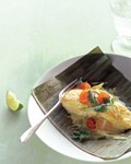 Banana-leaf wrapped grouper with curry sauce