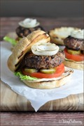 Barbecue onion burger