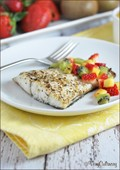 Barramundi with fruit salsa