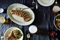 Basil-ginger marinated pork