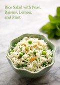 Basmati rice salad with peas, mint, and lemon