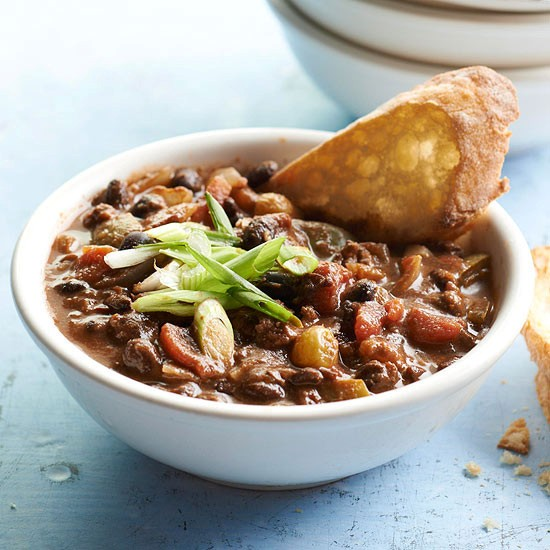Beef and black bean chili (page 150)