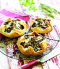 Beef, onion, rosemary and pine nut parcels