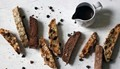Biscotti with hot mocha dipping sauce