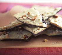 Black-and-white almond bark