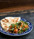 Black eyed pea salsa with cheese quesadillas
