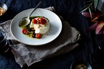 Black pepper and Parmesan panna cotta
