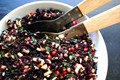 Black rice salad with apples & pomegranate