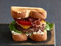 BLT burgers with bacon mayonnaise