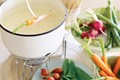 Blue-cheese dip with spring vegetables